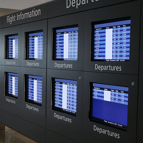 airport flight information display